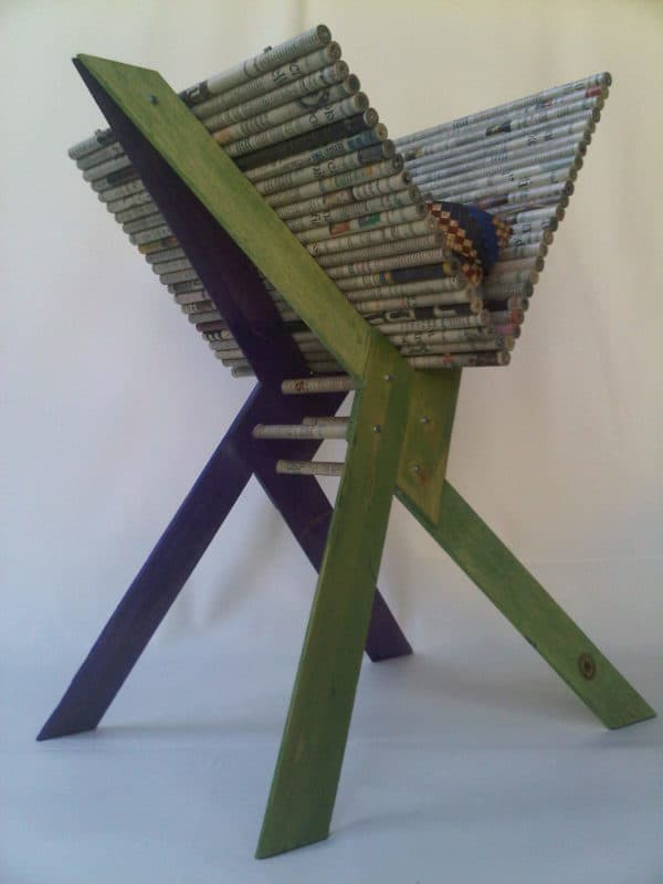 Newspaper holder Recycled Furniture