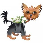Painted-Yorkie-Dog-Planter-0