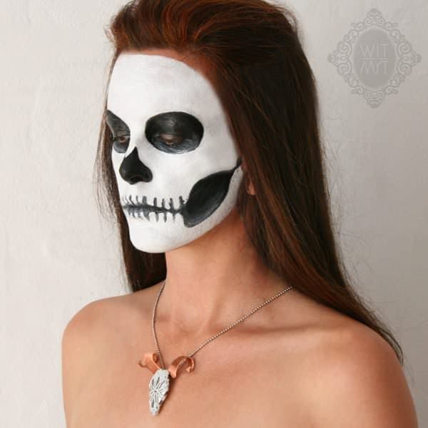 Death by Spoon in jewelry  with Spoon skull Ring pendant Necklace Jewelry doily Brooch