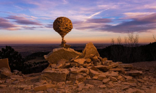 Gravity Glue: The Art of Balancing Rocks in art  with Stone Recycled Art