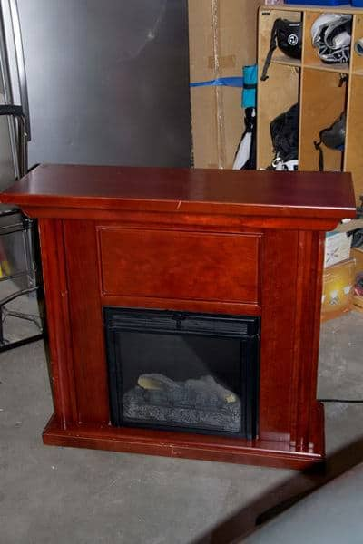 Electric Fireplace Makeover Recycled Furniture