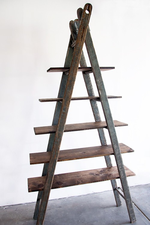 Diy Bookshelf Ladder Do-It-Yourself Ideas Recycled Furniture