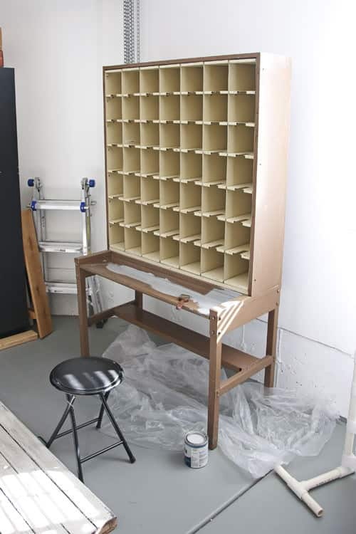 Vintage Mail Sorter Makeover in furniture diy  with Vintage DIY camera Bookshelf Antique