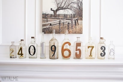 Numbered Glass Bottles