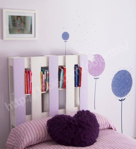 DIY: Pallet bookshelf headboard Do-It-Yourself Ideas Recycled Pallets