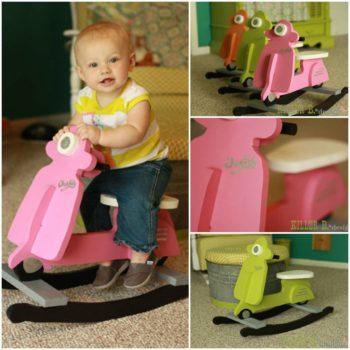 DIY: Kids Vespa Rocking Chair