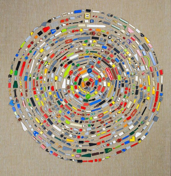 Everyday Objects Mandalas Recycled Art