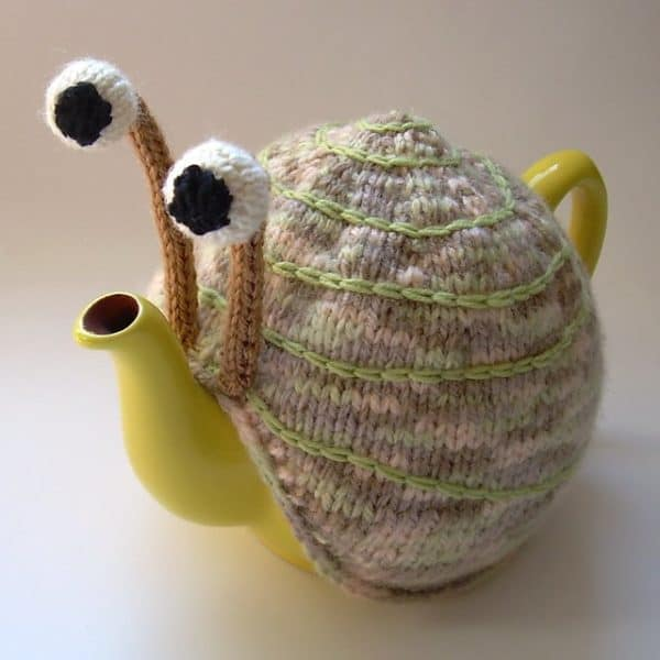 Snail teapot cosy patterns in diy accessories  with Knit DIY