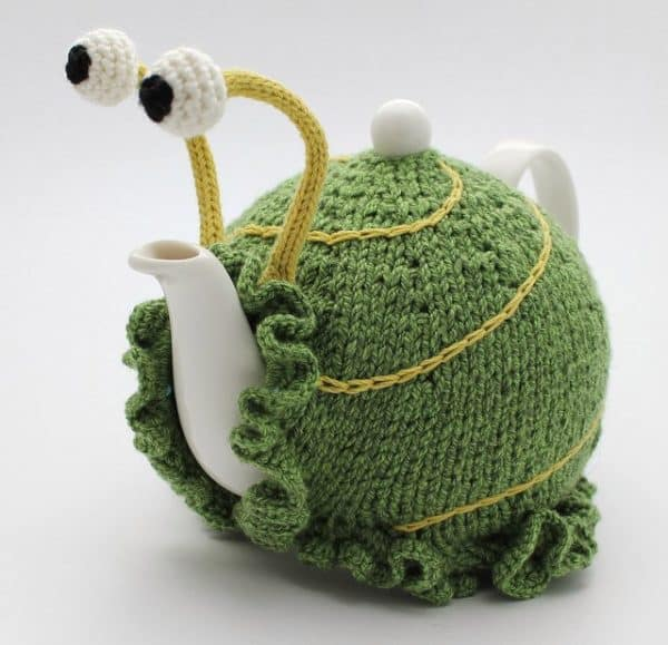 Snail teapot cosy patterns in diy accessories  with Teapot Snail Pattern Knit DIY