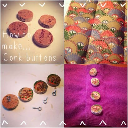 Wine Cork Buttons