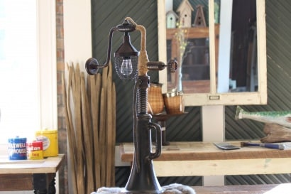 House Jack Hand Drill Lamp