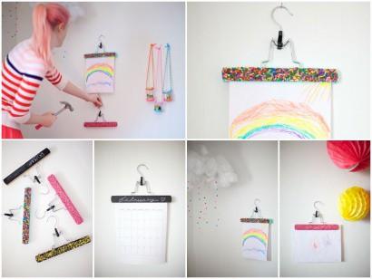 DIY: Hangers as art display
