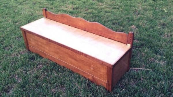 Dining Bench Made from an Upcycled Bed Recycled Furniture