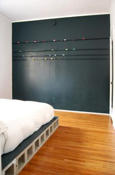 DIY Concrete Block Bedframe in furniture diy  with Frame DIY concrete Blocks Bed