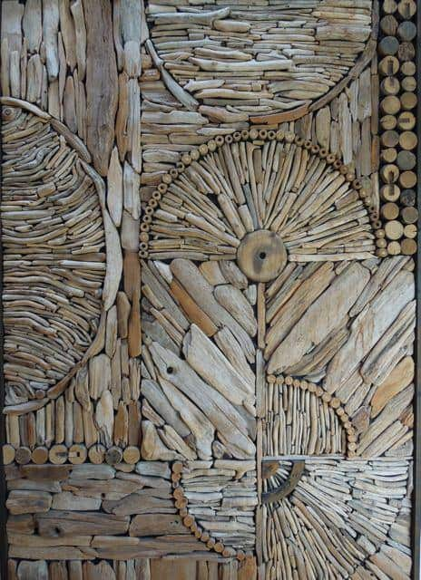 Driftwood pattern decoration in wood art  with Pattern mosaic driftwood