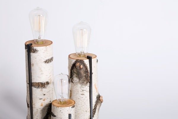 Repurposed wood log lamps Lamps & Lights Wood & Organic