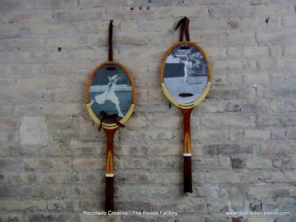 Upcycling Tennis Racquets into wall decoration Do-It-Yourself Ideas Recycled Sports Equipment