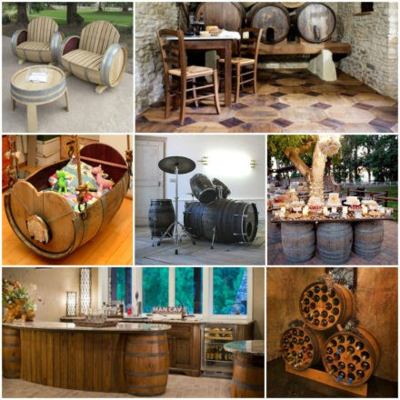 14 ideas of recycled wine barrels