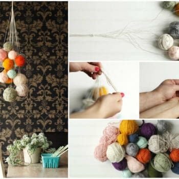 DIY: Unused Yarn Chandelier