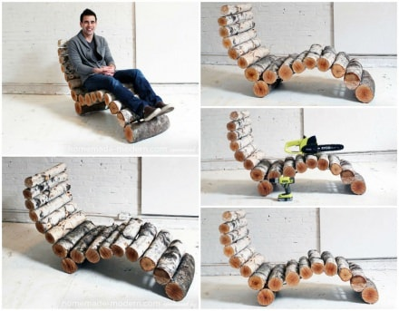 DIY: Wood Log Lounger