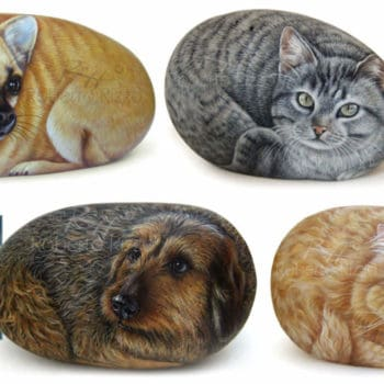 Dog and Cat Rock Portraits Commissions  by Roberto Rizzo