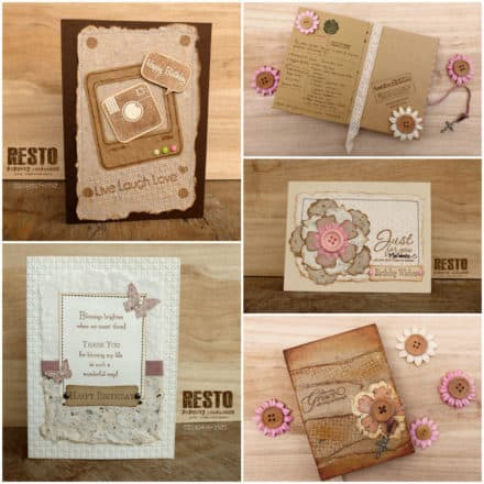 Handmade Cards and Journals Using Recycled Paper
