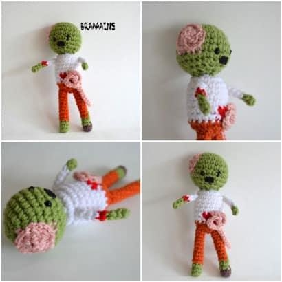 Zombie crocheted pattern