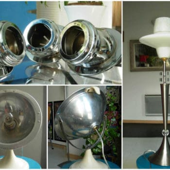 Metal lamps made ​​of recycled materials