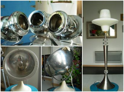Metal lamps made of recycled materials