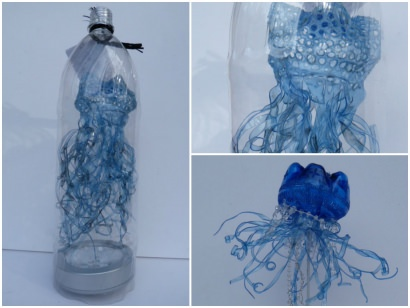 Bluebottles in bottles