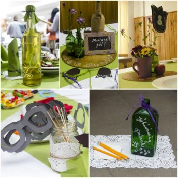 DIY: Recycled bottles for wedding decorations