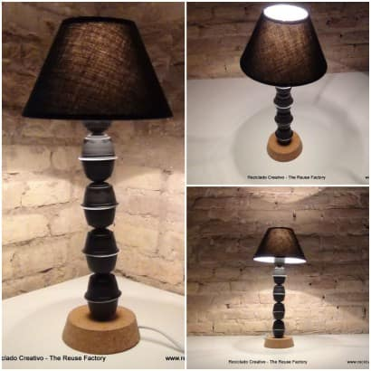 Upcycled Coffee Capsules Lamp