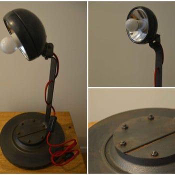 Lampe métallique au design industriel et moderne