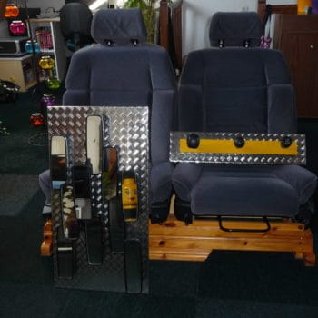 Furniture and decoration with equipments from old cars