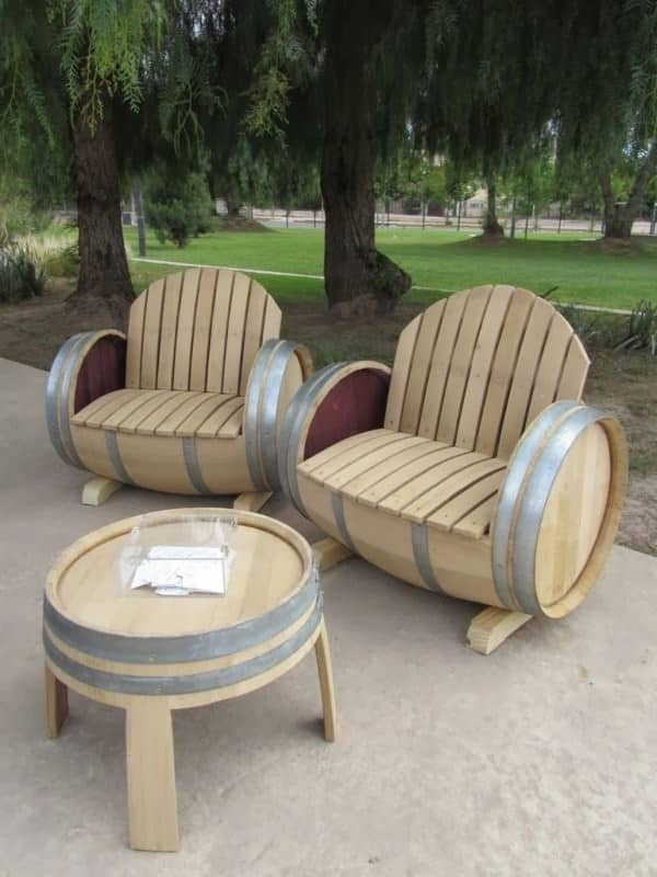 14 ideas of recycled wine barrels in wood  with Wine Repurposed Recycled Ideas DIY
