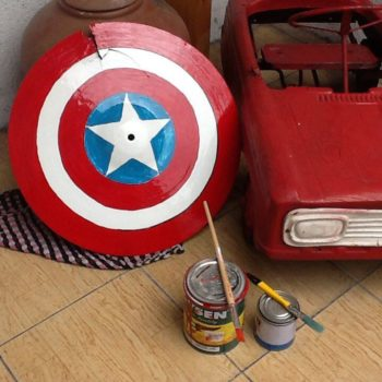 Broken Cymbal to Captain America shield