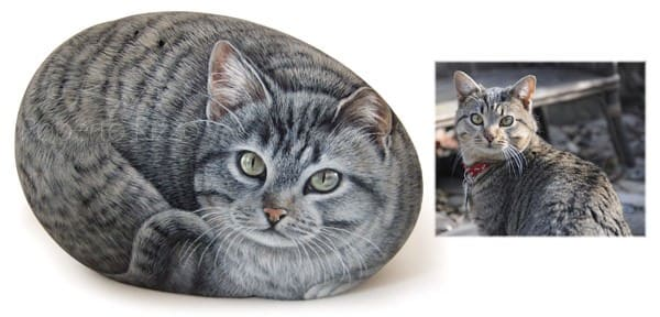 Dog and Cat Rock Portraits Commissions  by Roberto Rizzo Recycled Art