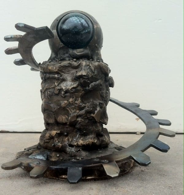 Sculpture from recycled mining equipments in art metals  with Sculpture Scrap Metal Decoration