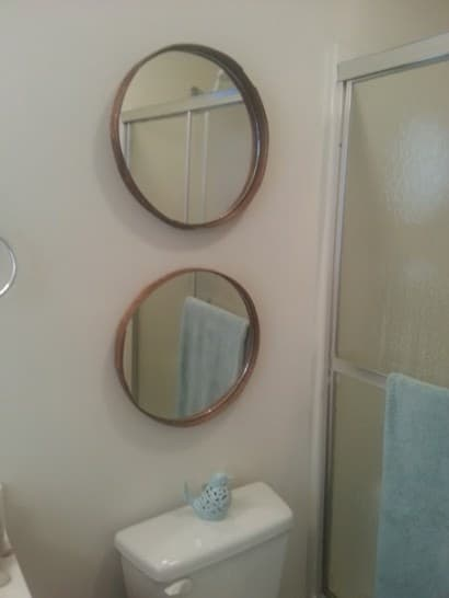 Recycle Cheese Box lid to beautiful Mirrors