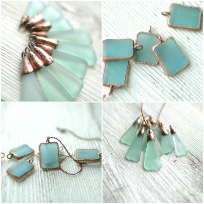 Recycled Glass Bottle Jewelry by reVetro