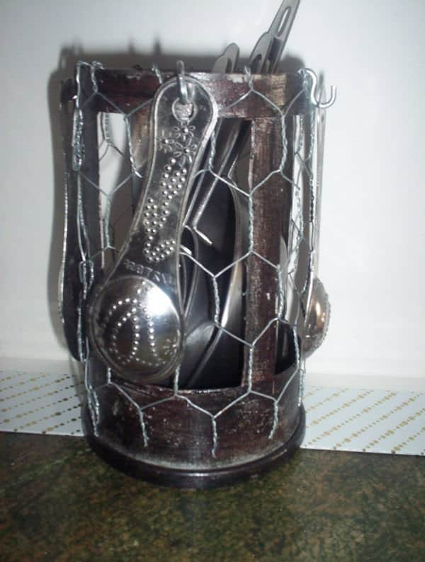 Coffee Pot Utensil Holder Accessories Recycling Metal