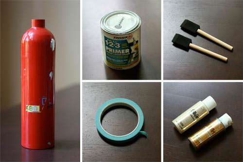 DIY: Fire Extinguisher Vase in diy  with vase Upcycled DIY