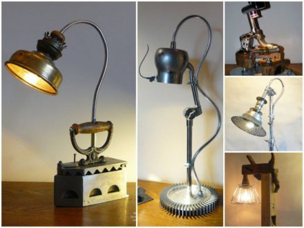 Upcycled lamps
