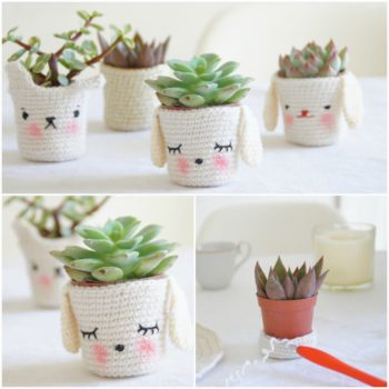 Crocheted planters