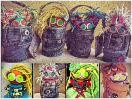 UgLy ReCyCLeD DoLLs Brooches