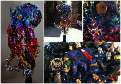 Tentacles of Nostalgia: Giant Octopus made from upcycled toys