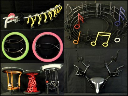 """A new collection of Bicycle Art  """"Cyclodermie"""""""