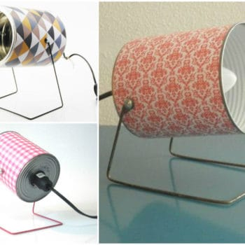 Upcycled Tin Can Into Retro Lamps