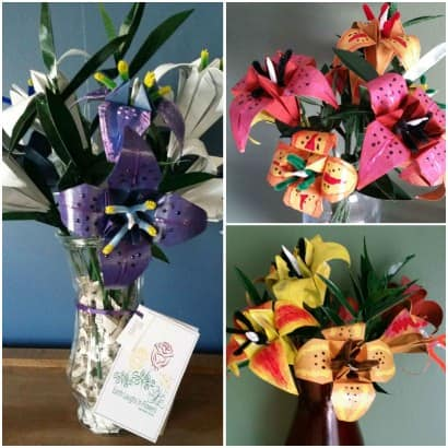 Upcycled Junk Mail Seed Bouquets