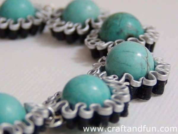 Diy: Bracelet with Recycled Coffee Capsules Upcycled Jewelry Ideas